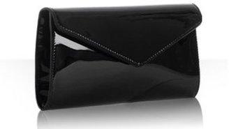 Yves Saint Laurent black patent leather 'Y-Mail' clutch