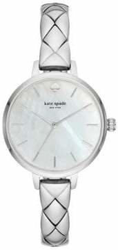 Kate Spade Metro Stainless Steel Half Bangle Bracelet Watch