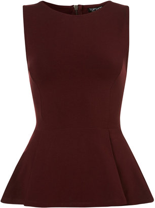 Topshop Sleeveless Peplum Top
