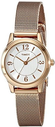 "Timex Women's T2P4599J ""Main Street Modern Minis"" Rose Gold-Tone Watch $49.95 thestylecure.com"