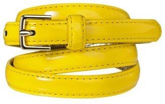 Merona Patent Skinny Belt - Yellow
