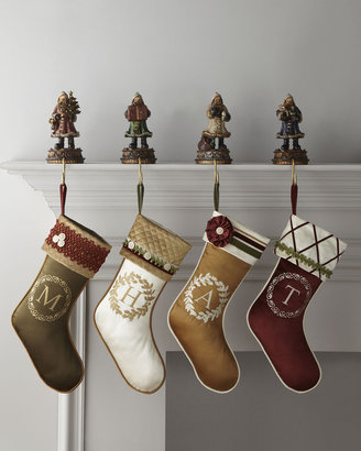 Horchow Monogram Initial Christmas Stockings