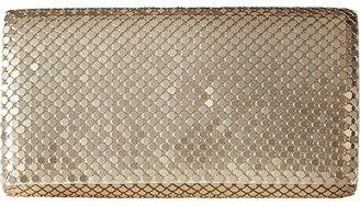 Jessica McClintock East/West Metal Mesh Roll Bag (Light Gold) Cross Body Handbags