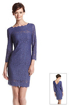 Adrianna Papell Illusion Lace Shift Dress