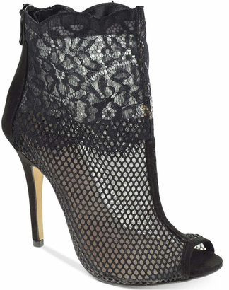 Chinese Laundry Jeopardy Mesh Lace Booties $89 thestylecure.com