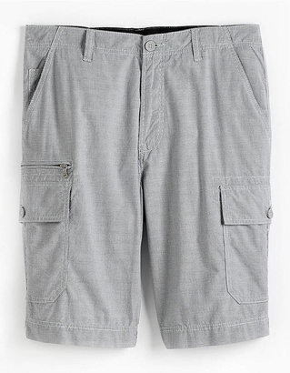 Calvin Klein Jeans Intensity Checked Cotton Cargo Shorts