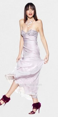 Faviana Size 0 LM Collection Strapless Pale Pink Sheer Back Chiffon Prom Dresses