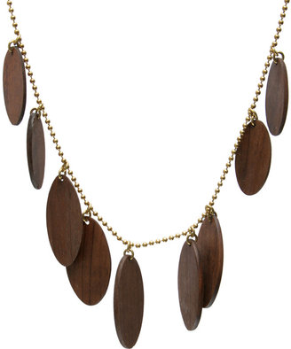 Asos Made Wood Multi Disc Necklace