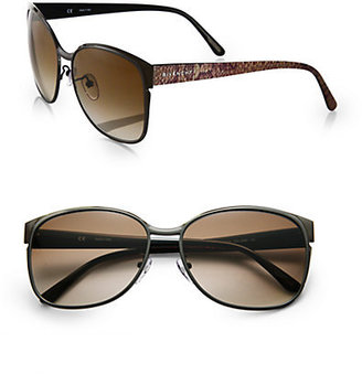 Givenchy Snake-Embossed Oversized Square Sunglasses