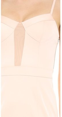 Alexander Wang Mesh Panel Bustier Dress