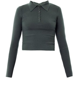 Azzedine Alaia Cropped fitted sweater