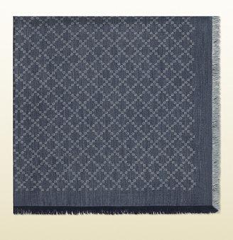 Gucci GG diamante jacquard silk wool shawl