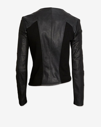 Helmut Lang Exclusive Gala Leather Detail Double Zip Jacket