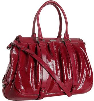 Celine garnet red patent leather 'Allen' medium tote bag
