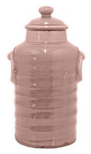 """13"""" Ribbed Canister, Blush"""