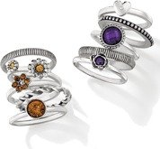 Avon Chic Stackable Ring Set - Purple & Brown
