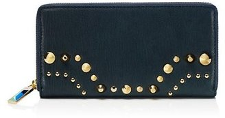 Glam Rock Bedford Leather Zip Wallet