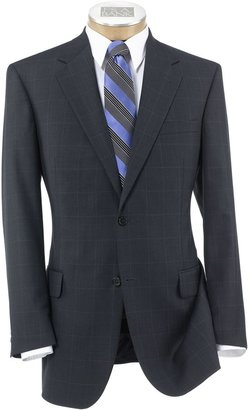 Jos. A. Bank Signature 2-Button Wool Pattern Suit with Pleated Trousers