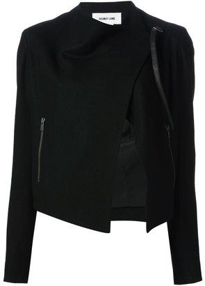 Helmut Lang cropped asymmetric jacket