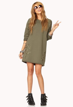 Forever 21 Ornate French Terry Dress