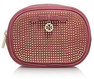 Tory Burch All-Over Crystal Classic Cosmetic Case