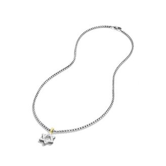 David Yurman Cable Classics Star of David with Gold on Chain