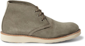 Red Wing Shoes Chukka Rubber-Soled Suede Boots