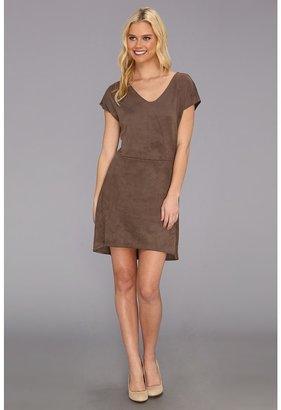C&C California Faux Suede Cap Sleeve Dress Women's Dress