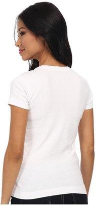 Three Dots S/S Mid V Women's Short Sleeve Pullover
