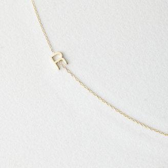 Maya Brenner DESIGNS asymmetrical mini letter necklace - r