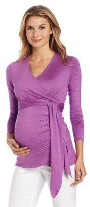 Jules & Jim Women's Maternity Classic Long Sleeve Wrap Shirt