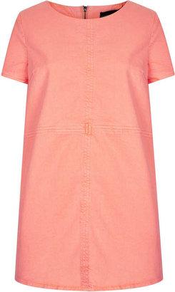 Topshop Petite Fluro Denim Tunic Dress
