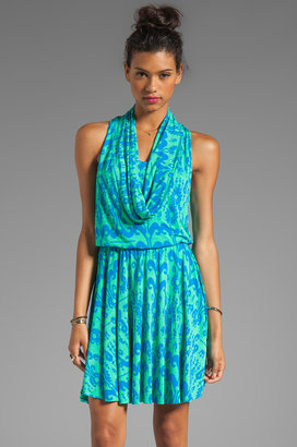 Plenty by Tracy Reese Printed Jersey Cowl Dress