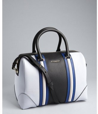 Givenchy sky blue multi color leather 'Lucrezia' bowling bag