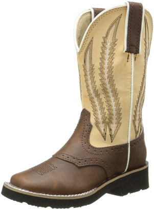 Roper Round Toe Saddle Vamp Western Boot (Toddler/Little Kid)