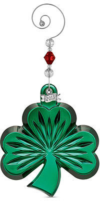 Waterford Christmas Ornament, 2013 Annual Green Shamrock