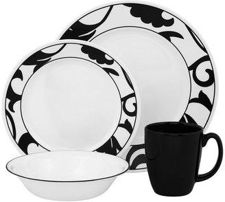 Corelle vive noir 16-pc. dinnerware set