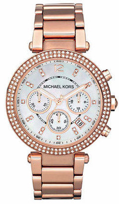 Michael Kors Rose Gold Coloured Parker Watch