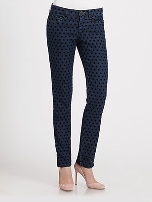 Max Mara Weekend Crilla Velvet-Dot Jeans