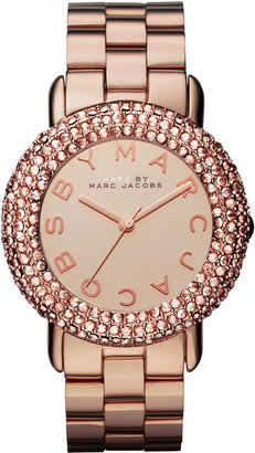 Marc by Marc Jacobs Watch, Women's Rose Gold-Tone Stainless Steel Bracelet 36mm MBM3192