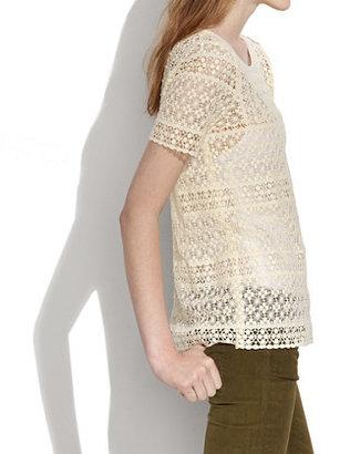 Madewell Crochet Mix Top