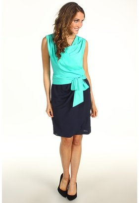 Suzi Chin for Maggy Boutique - Sleeveless Drape Neck Side Knot Dress (Reef/Yanbl) - Apparel