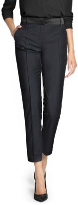 MANGO Outlet Satin Detail Tapered Trousers
