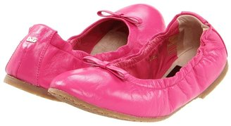 D&G Ballerina Leather - LDDZBJ (Toddler/Youth) (Fuchsia) - Footwear