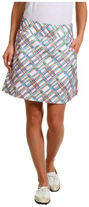 adidas Fashion Performance Digital Plaid Skort '13 (White/FP Aqua/FP Electric/FP Highlighter) - Apparel