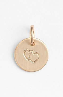 Women's Nashelle Double Heart Mini Stamp Charm $22 thestylecure.com