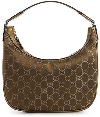 Gucci Small Signature Fabric Hobo