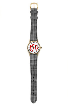 Cartier Foundwell Vintage with Tartan Strap And Customized Initials