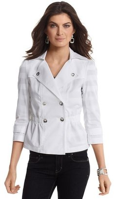 White House Black Market Mini Trench Coat