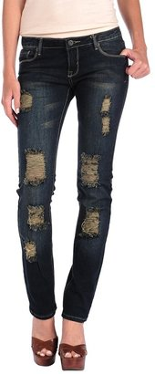 Butter Shoes Dark Wash Ripped Skinny
